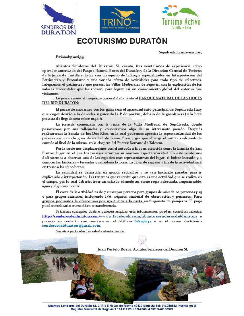PROGRAMA DURATON ecoturismo. 2015_01