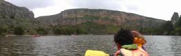 piraguas en el rio duratón
